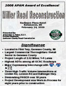 Miller Road Reconstruction - 2008 APAM Award of Excellence
